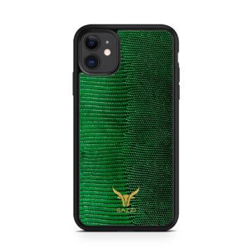 GAZZI_Case_iPhone_11_Lizard_Gruen_Gold