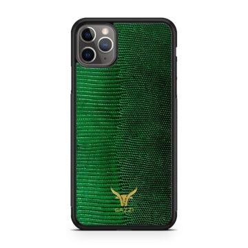 GAZZI_Case_iPhone_11_Pro_Max_Lizard_Gruen_Gold