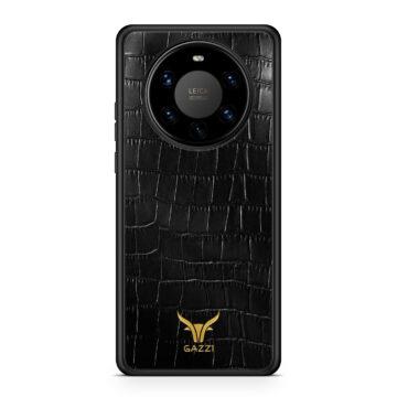 Gazzi_Case_Huawei_MATE_40_PRO_Kroko_Schwarz_Gold