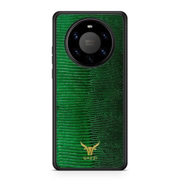 Gazzi_Case_Huawei_MATE_40_PRO_Lizard_Gruen_Gold