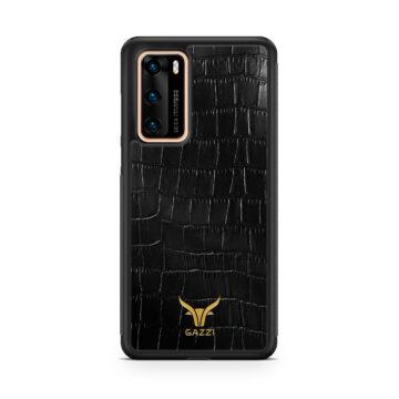 Gazzi_Case_Huawei_P40_Kroko_Schwarz_Gold