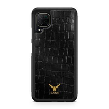 Gazzi_Case_Huawei_P40_LITE_Kroko_Schwarz_Gold