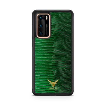 Gazzi_Case_Huawei_P40_Lizard_Gruen_Gold