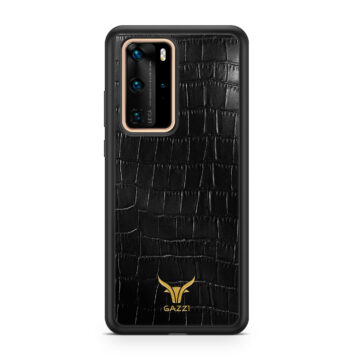 Gazzi_Case_Huawei_P40_PRO_Kroko_Schwarz_Gold
